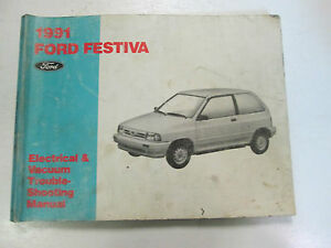 1991 FORD FESTIVA Electrical Wiring Diagrams Service Shop