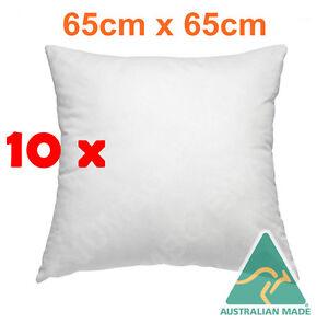 details about bulk buy 10 x australian made european pillow cushion insert polyester 65 x 65cm