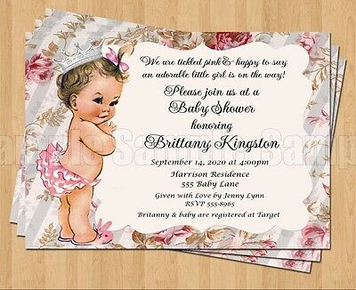 10 Vintage Baby Show 1st Birthday Or Shower Invitations Adorable Ebay