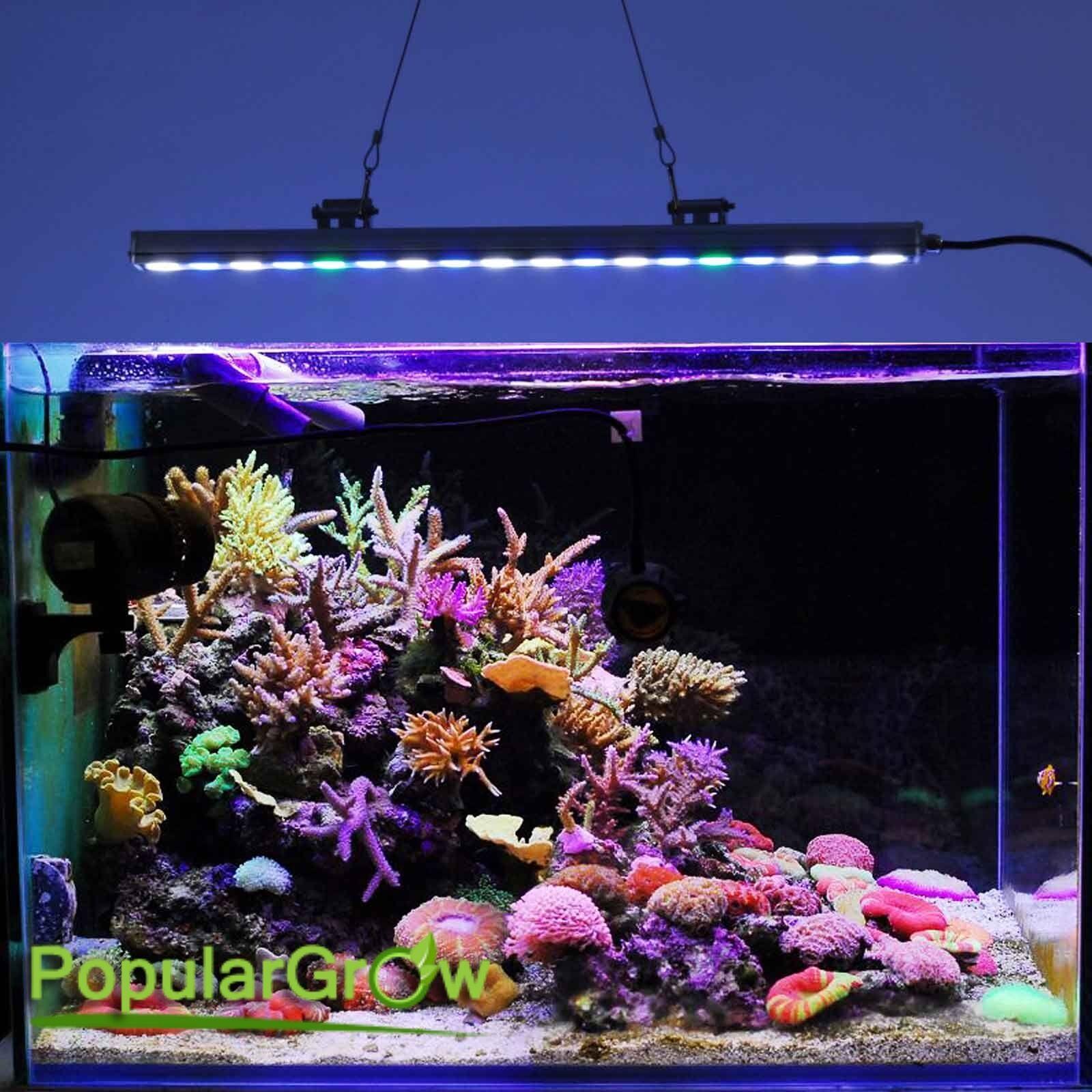 54w led aquarium strip light bar coral reef fish tank supplement lighting growth