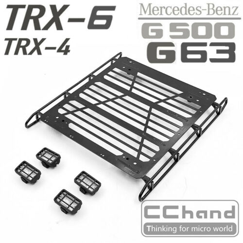 other rc parts accs metal luggage rack roof carrier for trx 4 g63 6x6 1 10 rc car toy woodland resort com