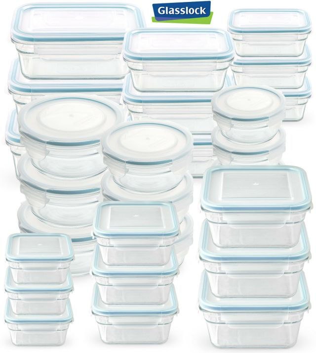 Glasslock Food-Storage Container Microwave & Oven Safe 3 Container Set in 9 Size 2