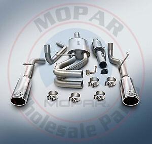 details about dodge ram 1500 5 7l mopar cat back performance exhaust system new oem mopar
