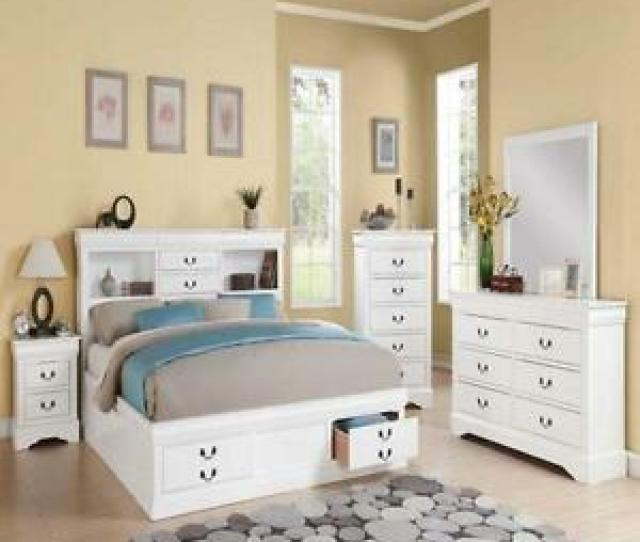 Image Is Loading Modern White Louis Philippe Cal King Bedroom Set