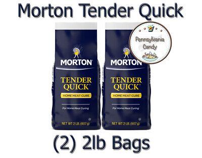 Morton (2) 2 lb Bags TENDER QUICK Home Meat Cure Base Salt ...
