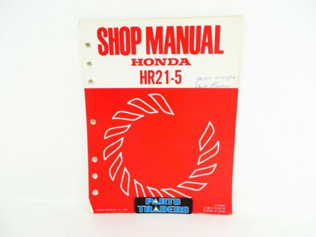 Repair Manual Hr215 Hr21 5 Lawn
