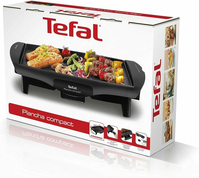 tefal cb 5005 ultra compact barbecue elektrogrill 45x30x9 cm tischgrill 1800w