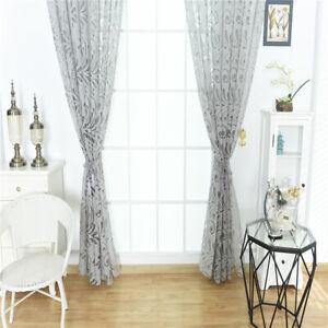 details sur vintage voilage de fenetre floral store decoration pour chambre salon gris