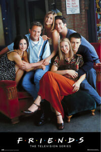 details zu friends tv show poster print friends on couch at central perk cafe