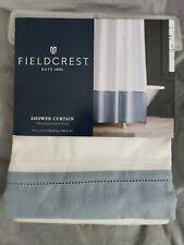 fieldcrest shower curtain white peach