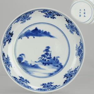 Antique Japanese Ko-Imari Landscape Plate ca 1680-1720 Arita Japan Porce...