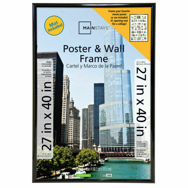 mainstays 41 opening trendsetter collage poster picture frame 27x40 inch black