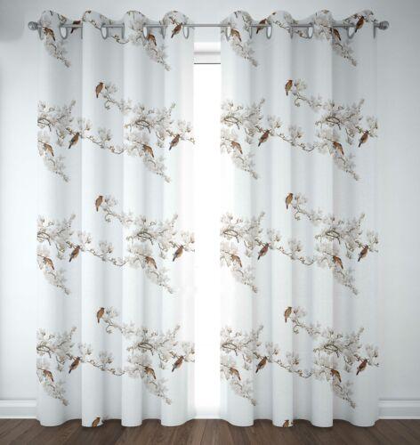 window treatments hardware s4sassy cotton duck blossom bulbul bird white drapes curtain door god home garden