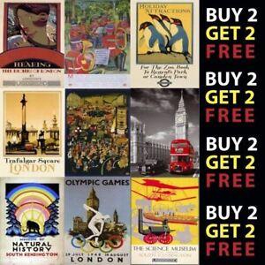 details about vintage london underground railway uk retro travel a4 a3 posters 40 designs