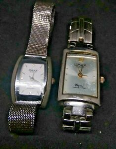 Qmax CRYSTAL Wrist Watch Quartz Japan Made Elegant. LOT 2 ...