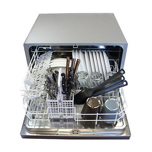 Details About Small Mini Dishwasher Countertop Portable Compact Tabletop Apartment College