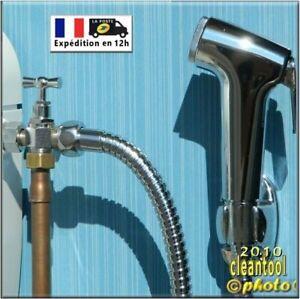 details sur kit douchette hygiene 1 robinet 3 voies hemorroide ablution toilette wc