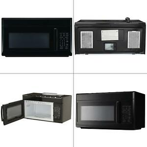 details about magic chef microwave oven 1 6 cu ft over the range hood light ventilation black