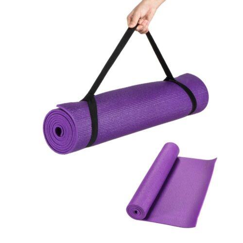 articles de fitness d athletisme et de yoga tres epais 6mm antiderapant tapis de yoga exercice blue purple 173cm x 61 cm avec bretelles malecon