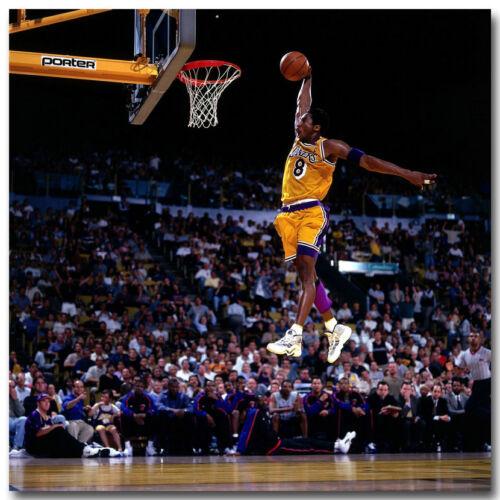 kobe bryant dunks basketball sports silk poster 20x20 24x24 inch 011 art posters art