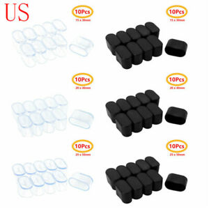 details about 10 oval rubber furniture foot chair leg end caps covers tip floor protector pad