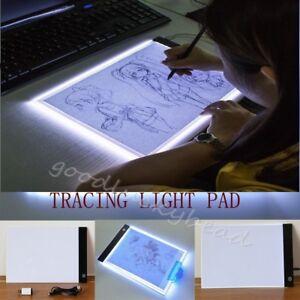 A4 LED Art Stencil Board Light Box Tracing Drawing Board Pad Table EU Plug