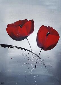 details sur tableau fleurs peinture originale tableau contemporain peinture fleurs moderne