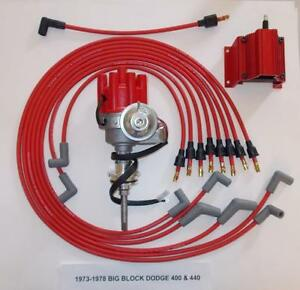 DODGE 440 19731978 RED Small Female Cap HEI Distributor