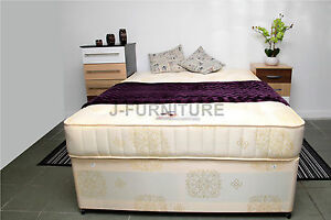 Image Is Loading 4ft Small Double Divan Bed With 25cm Deep