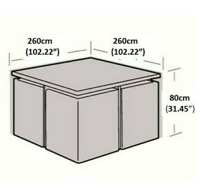 details about square 260 x 260 x 80 cms 100 water proof outdoor furniture patio cover strong