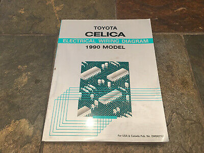 1990 toyota celica electrical wiring diagrams service manual  ebay