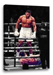 details zu anthony joshua canvas muhammad ali pose boxing poster photo klitschko 30x20