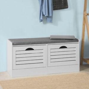 details sur sobuy banc de rangement a chaussures armoire meuble d entree blanc fsr62 w fr
