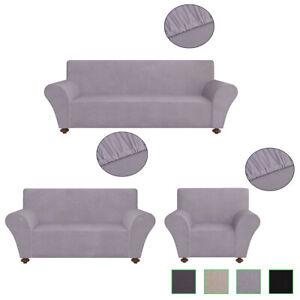 details sur housse protection pour canape fauteuil sofa en polyester jersey extensible