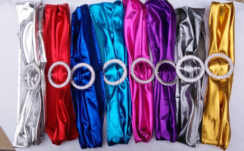 100 Metallic Spandex Chair Band For Folding Banquet Lycra