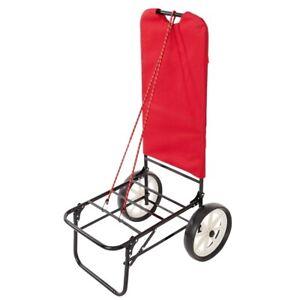 Carrello trolley sedia porta sedie trasformabile in tavolino spiaggia. Carrello Spiaggia Mare Trolley Porta Spesa Ombrellone Campeggio Colore Rosso Ebay