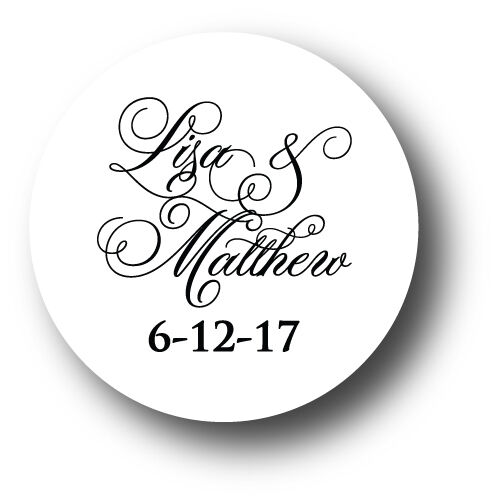 Wedding Invitation Envelope White Sticker Seals Monogram You Pick Design Color