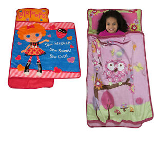 details about new childrens nap mat kids characters sleep over toddler blanket pillow roll