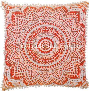 details about ombre mandala euro sham pillow case 26x26 boho meditation cotton cushion cover