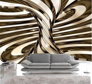 Certo, il modern design invita a linee nette e. Carta Da Parati 3d Effeto Or Foto Murale Design Moderno Ebay