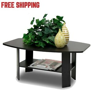 Details About Coffee Table For Small Es Home Office Living Room Apartment Round Espresso