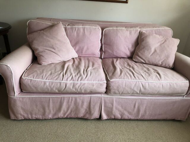 crate and barrel full sized sleeper sofa chair and ottoman