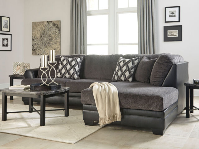 new modern living room furniture gray microfiber sectional sofa couch chaise g19
