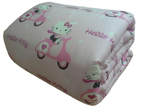 Lenzuolo hello kitty gabel completo cotone 1 posto, lenzuola gabel hello. Bedding Gabel 1 Square Hello Kitty Quilt Duvet Winter Single Pink Scooter Home Garden