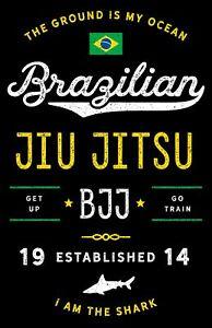 details about brazilian jiu jitsu poster 11x17 inches bjj art print for jujits