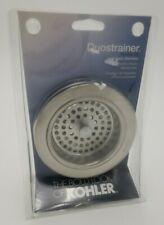 kohler stainless steel duostrainer sink strainer r8799 c vs
