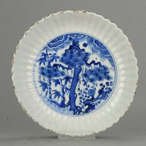 Antique Chinese Porcelain 17C Porcelain Ming Wanli Kraak Tree Prunus Bam...