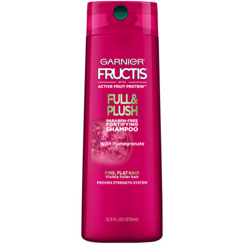 Garnier-Fructis-Champu-fortificante-Completo-amp-Felpa-para-pelo-fino-y-plana-OZ
