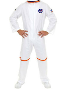 Adult Men's White NASA Astronaut Space Suit Costume | eBay