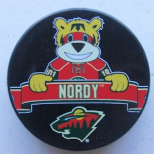 Official NHL Licensed puck of the Minnesota Wild Mascot ...